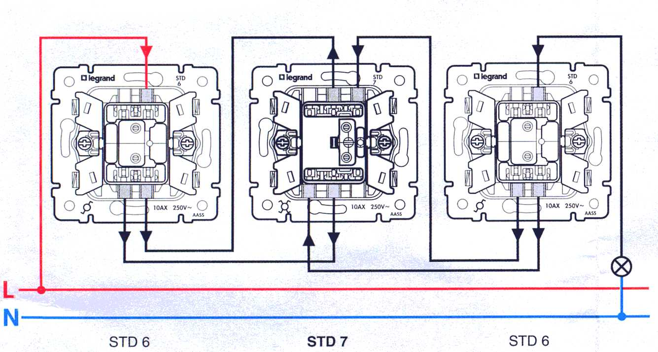 Legrand проходной выключатель схема фото 362